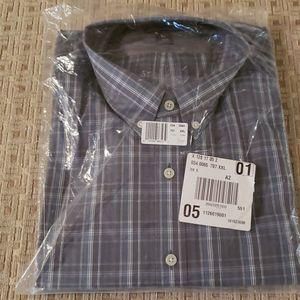 Men's Eddie Bauer Grey Check Button Down Shirt